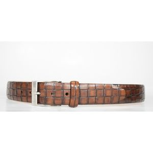 Martin Dingman Brown Leather Tuscan Calfskin Belt